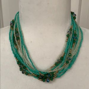 NWT multilayer beaded necklace
